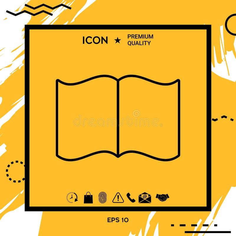 Otwiera książkową symbol ikonę ilustracji