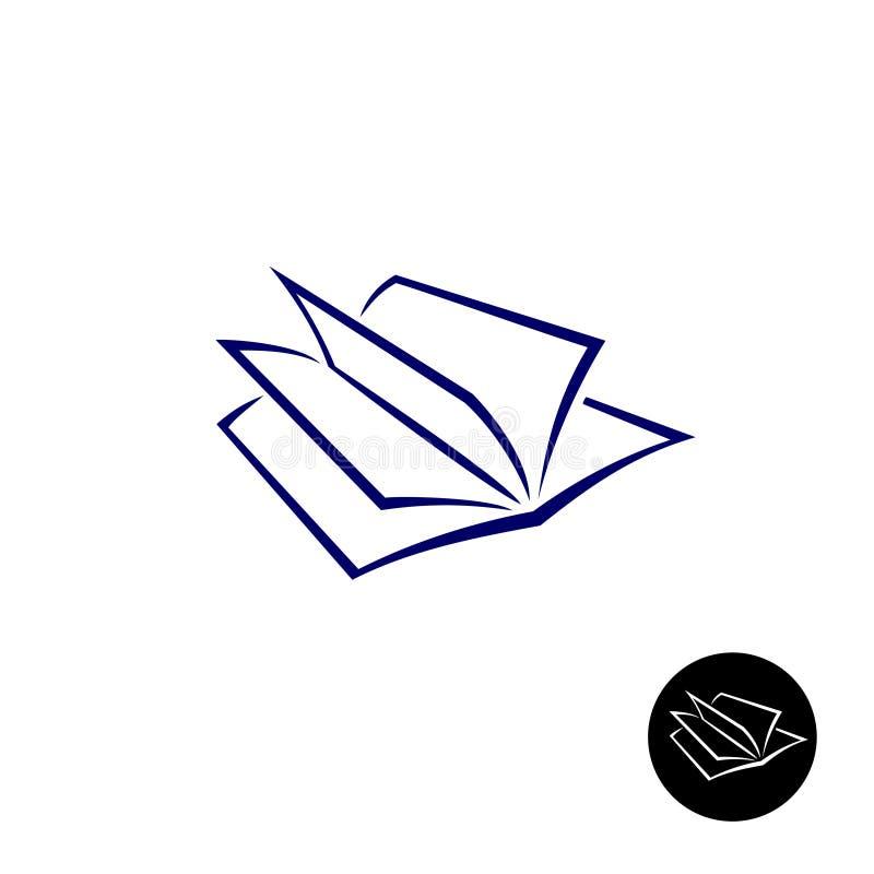 Otwiera książkowego loga ilustracji