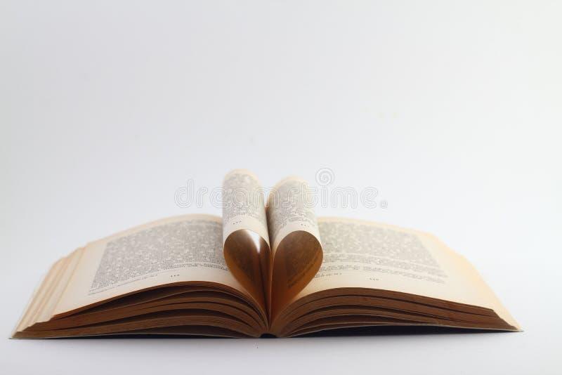 Otwiera książkowego lying on the beach na białym tle zdjęcia royalty free