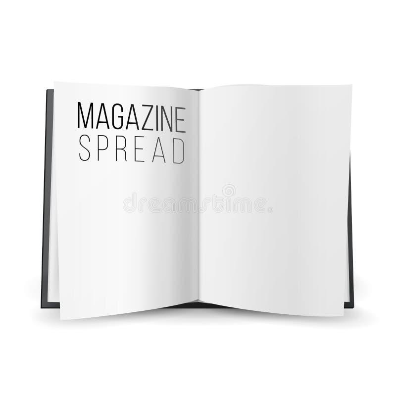 Otwiera magazynu Rozciągniętego Pustego wektor Strony rozszerzanie się Z Pustymi stronami royalty ilustracja