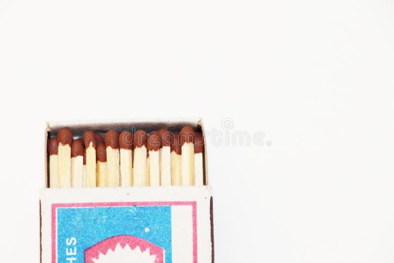 Otwiera matchbox na białym tle zdjęcia royalty free