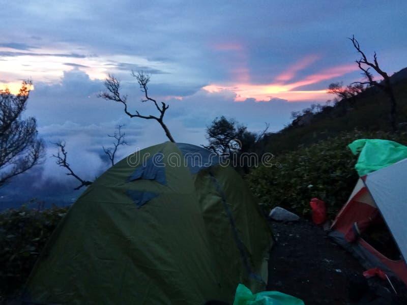 Otwiera namiot fotografia royalty free