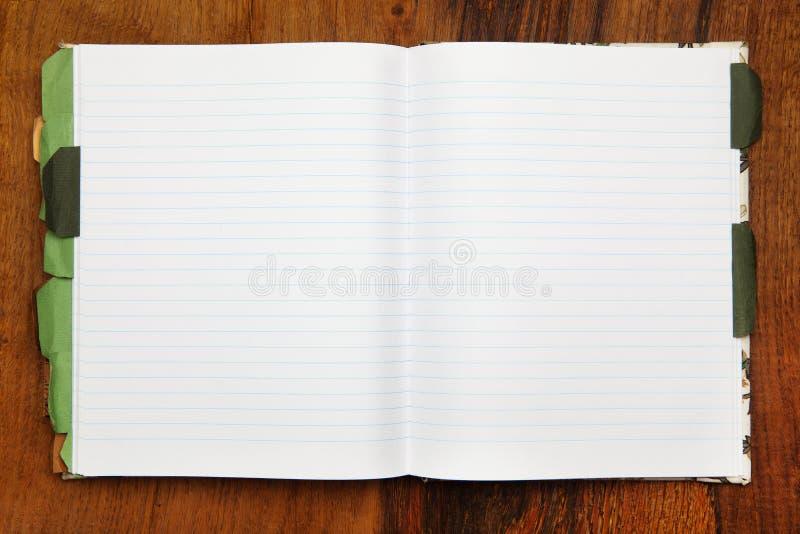 Otwiera notatnika obraz royalty free