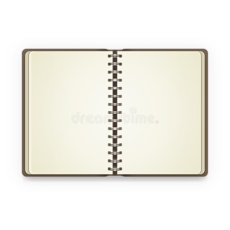 Otwiera notatnika z pustymi stronami royalty ilustracja