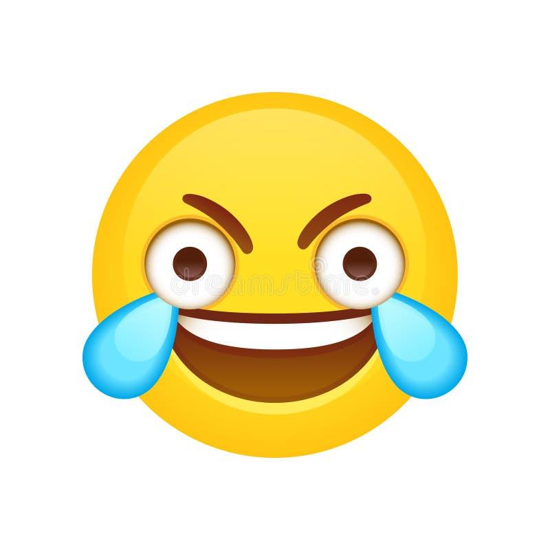 Otwiera oko Płacze Śmiający się Emoji royalty ilustracja