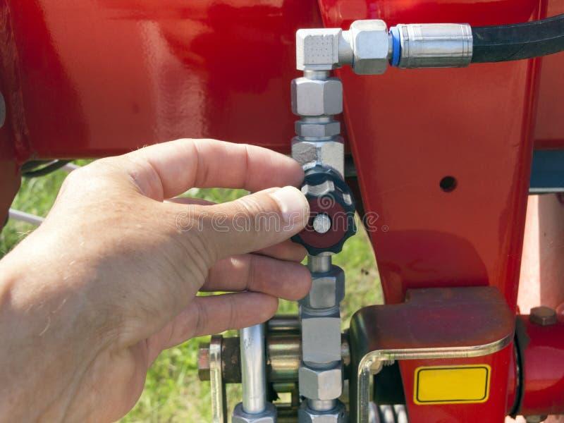 Otwiera paliwowego klepnięcie zdjęcie stock