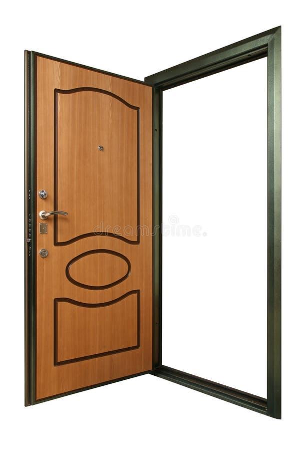 Otwiera potężnego metalu drzwi obrazy royalty free