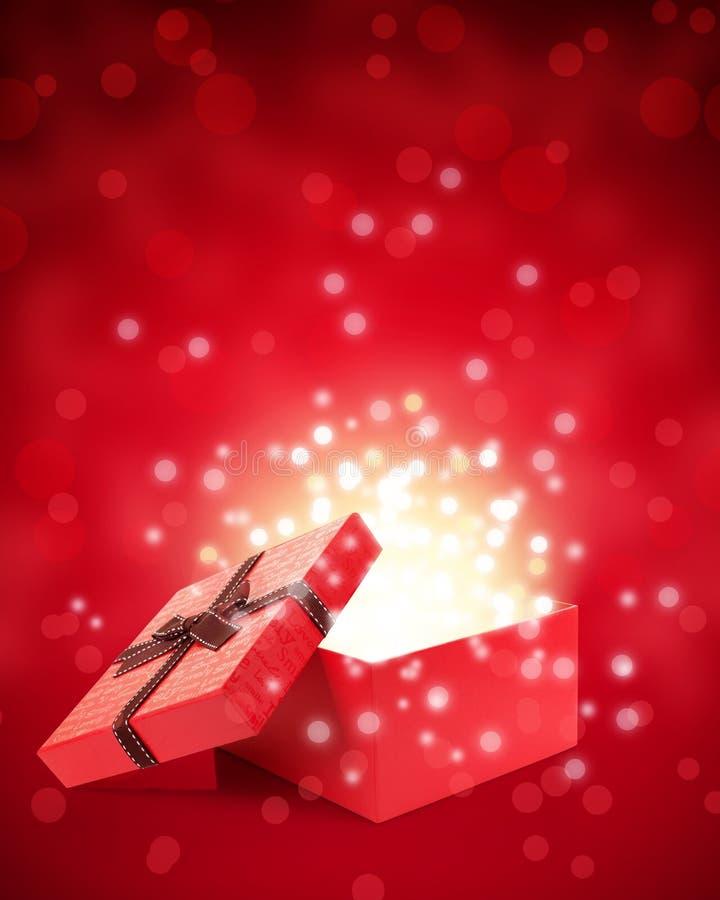 Download Otwiera prezenta pudełko ilustracji. Ilustracja złożonej z jaskrawy - 28961352