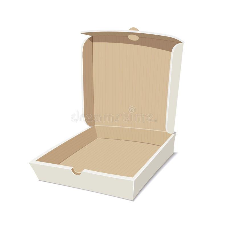 Otwiera pudełko dla pizzy ilustracji
