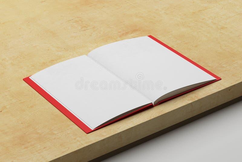Otwiera pustego copybook ilustracji