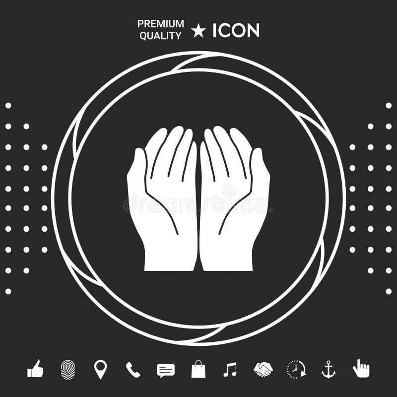 otwiera ręki ikonę Graficzni elementy dla twój designt ilustracji