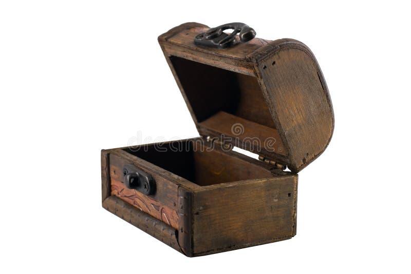 Otwiera rocznik drewnianą klatkę piersiową obrazy royalty free