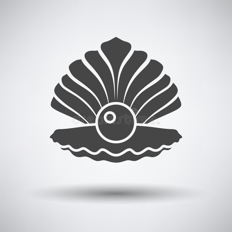 Otwiera seashell ikonę royalty ilustracja