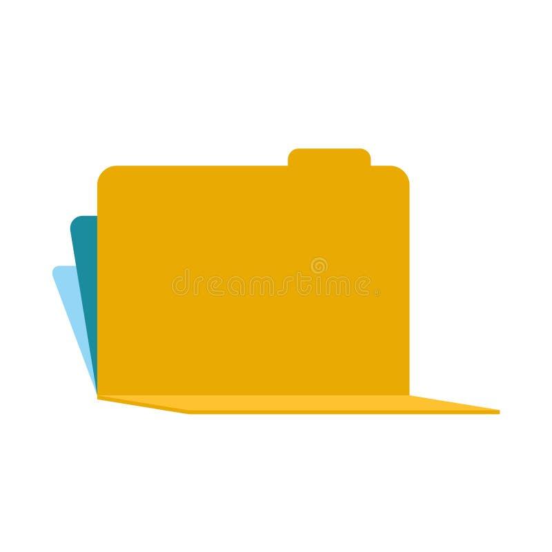 Otwiera skoroszytowego 3d szablon odizolowywającego również zwrócić corel ilustracji wektora ilustracja wektor