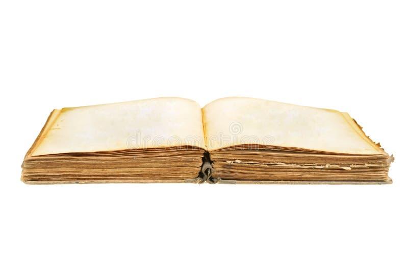 Otwiera starą książkę obrazy stock