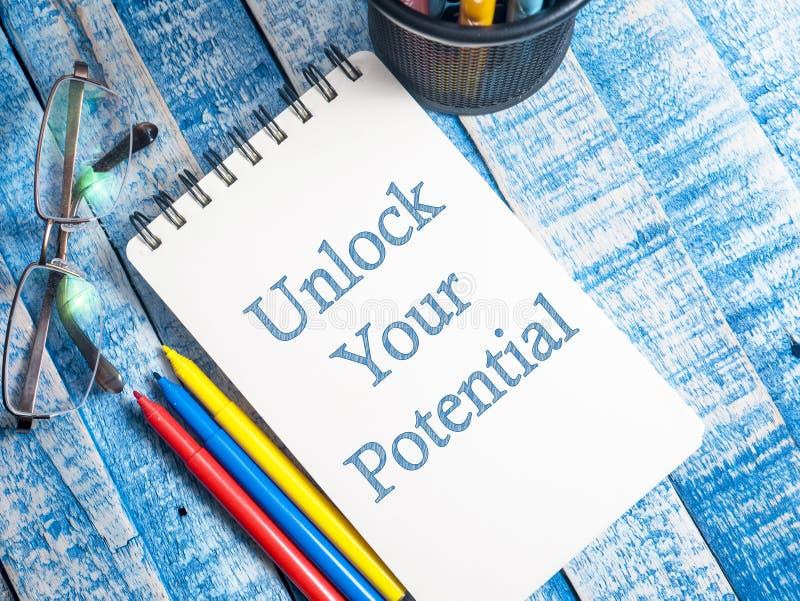 Otwiera Twój potencjał, Motywacyjne Inspiracyjne wycena fotografia royalty free