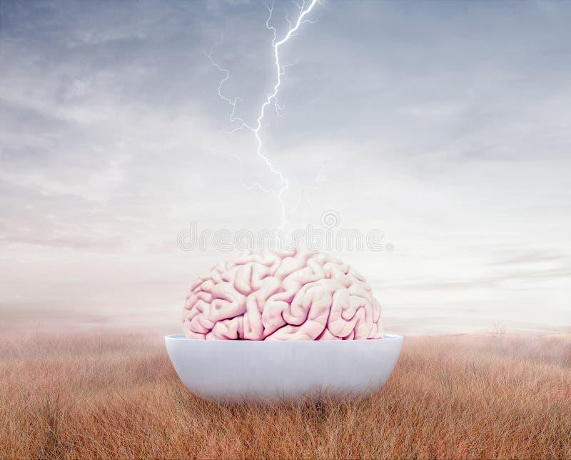 Otwiera twój umysł, brainstorming pojęcia tło ilustracji