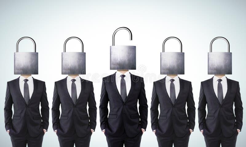 Otwiera twój umysłu biznesu pojęcie royalty ilustracja