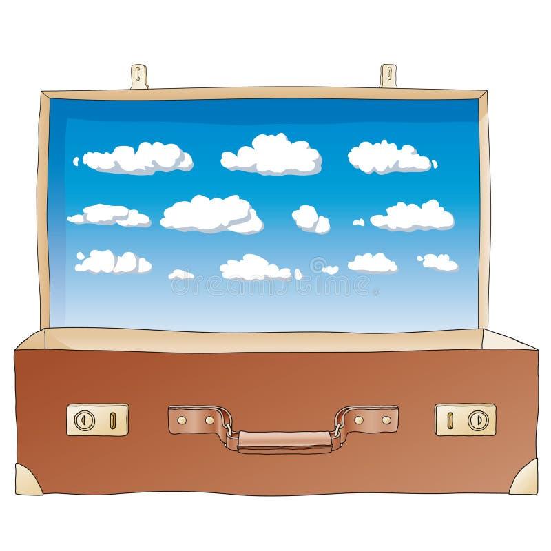 otwiera walizka wektor ilustracja wektor