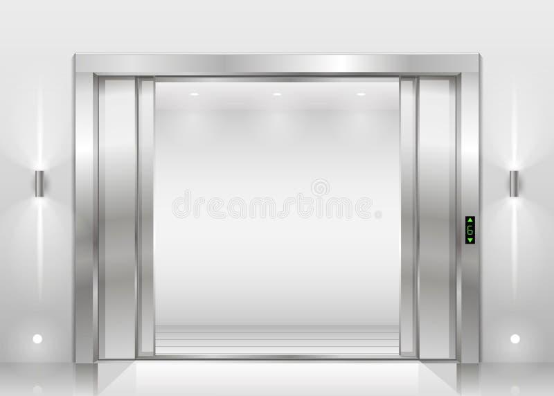 Otwiera wind drzwi ilustracja wektor