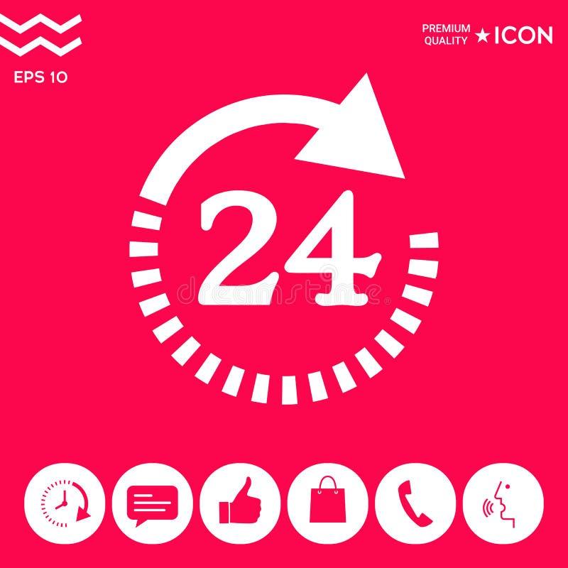 Otwiera wokoło zegarowej symbol ikony Godziny otwarcia symbol ikony ilustracji
