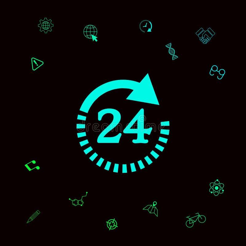 Otwiera wokoło zegarowej symbol ikony Godziny otwarcia symbol ikony Graficzni elementy dla twój designt ilustracji