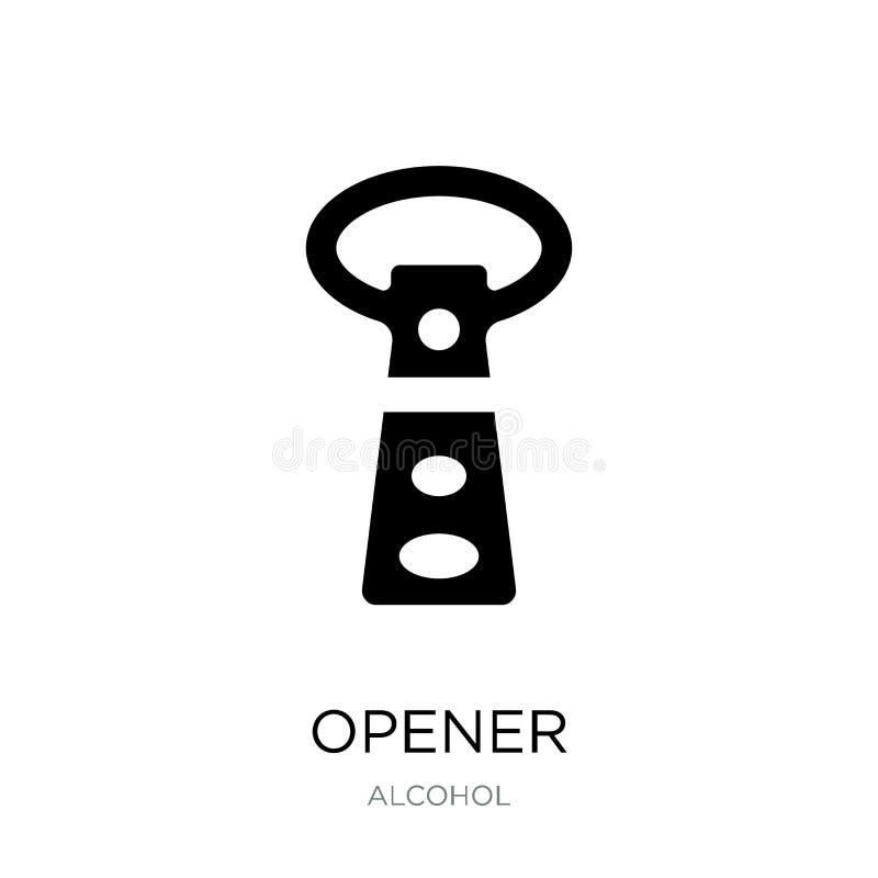 otwieracz ikona w modnym projekta stylu Otwieracz ikona odizolowywająca na białym tle otwieracz wektorowej ikony prosty i nowożyt royalty ilustracja