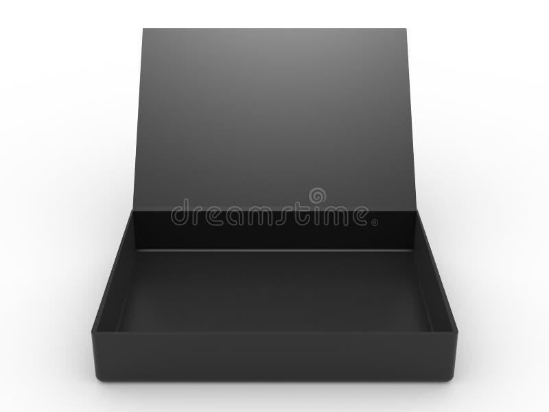 otwierający czarny pudełko royalty ilustracja