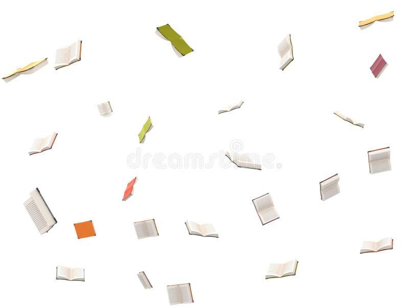 otwierający książki latanie otwiera trzy ilustracja wektor