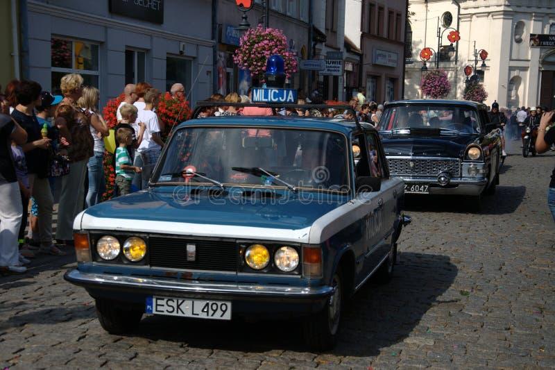Otwierający paradę - Stary samochód zdjęcia stock