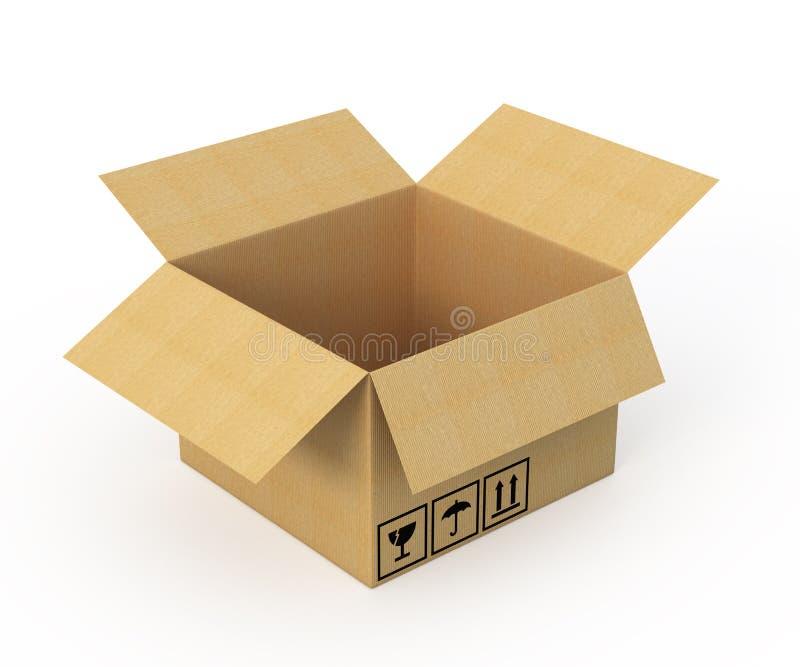 otwierający pudełkowaty karton royalty ilustracja