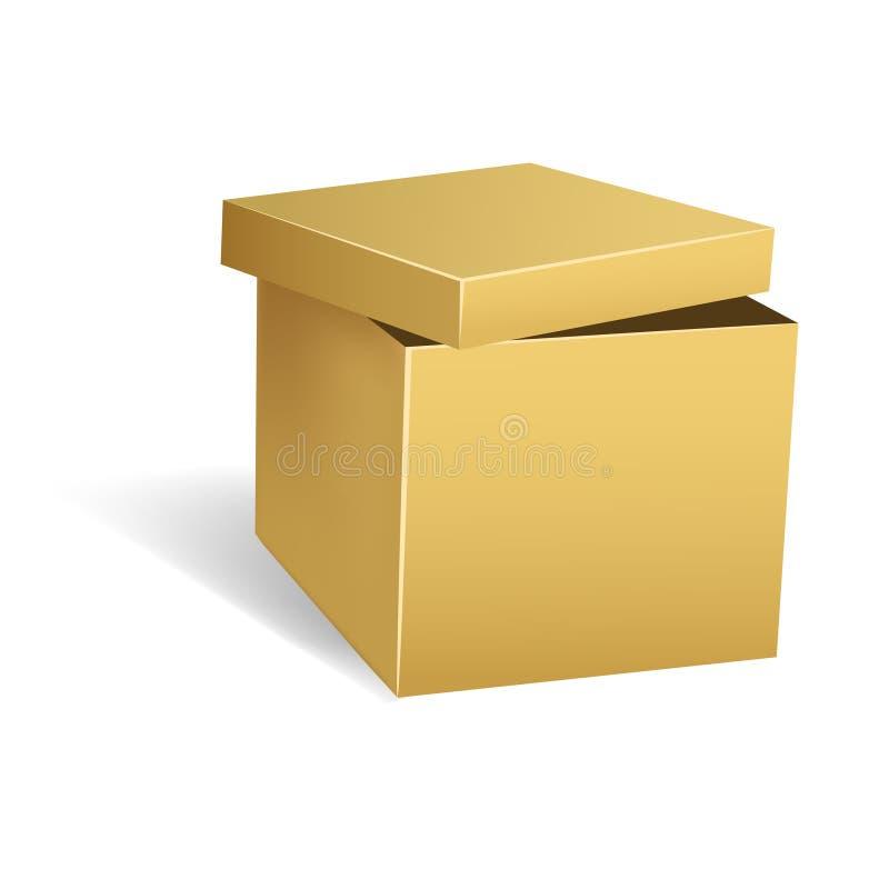 otwierający pudełkowaty kartonowy dekiel royalty ilustracja