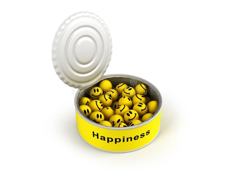 otwierający zakonserwowany szczęście ilustracja wektor