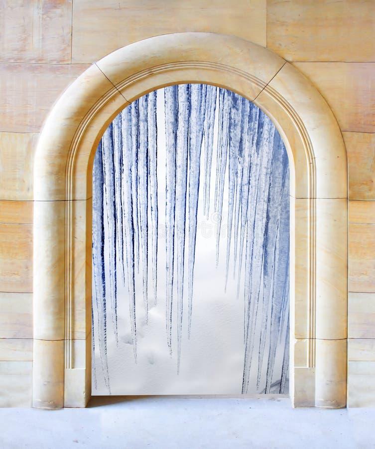 otwierający zima arktyczny drzwi fotografia stock