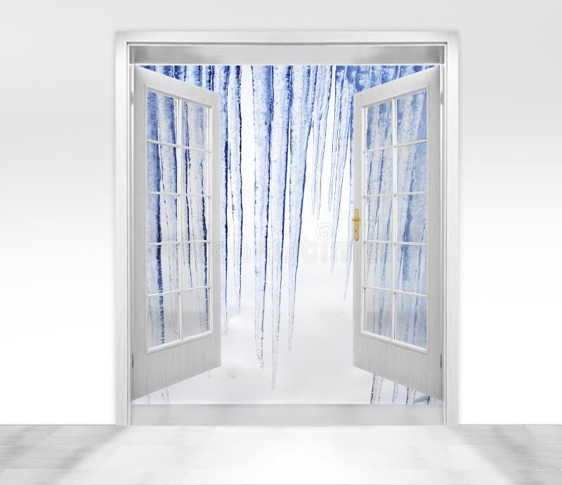 otwierający zima arktyczny drzwi zdjęcia stock