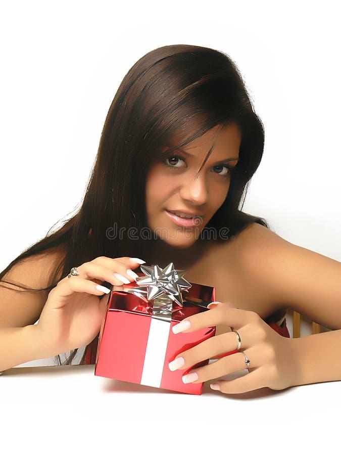 otwieranie prezentów obrazy stock