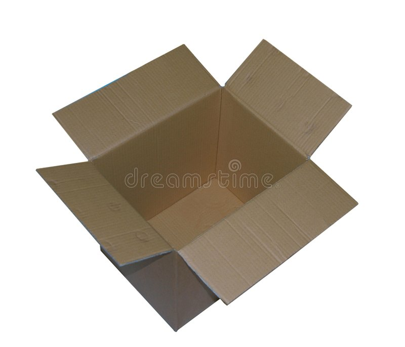 otworzyć pudełko obraz stock