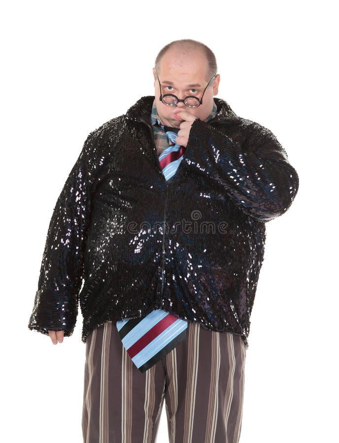 Download Otyły Mężczyzna Z Oburzającym Moda Sensem Zdjęcie Stock - Obraz złożonej z grubas, komiczka: 28961796