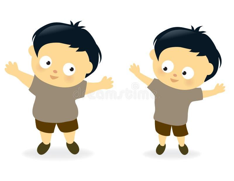 Download Otyły Dzieciak Before And After Ilustracja Wektor - Obraz: 27955224