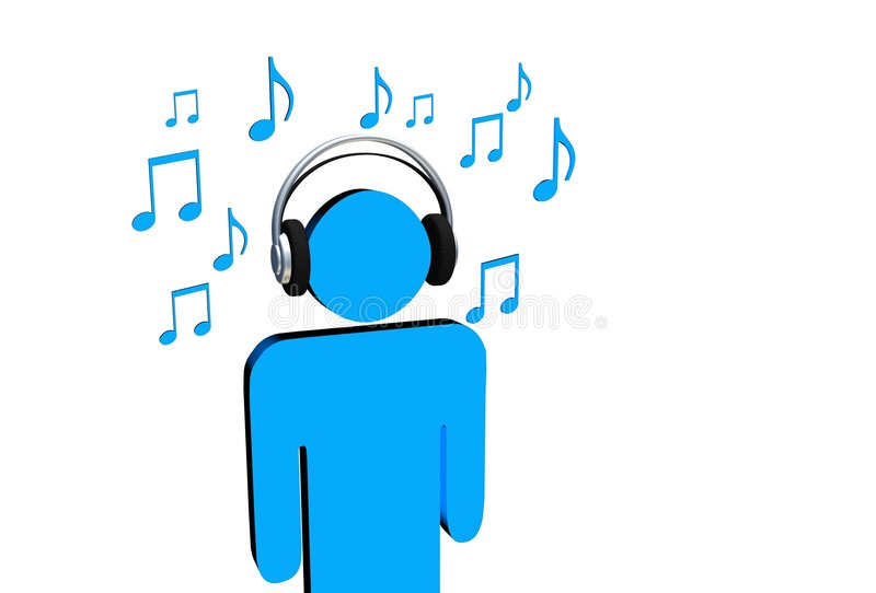 Ouça a música ilustração royalty free
