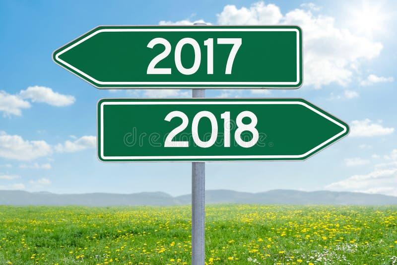 2017 ou 2018 fotos de stock royalty free