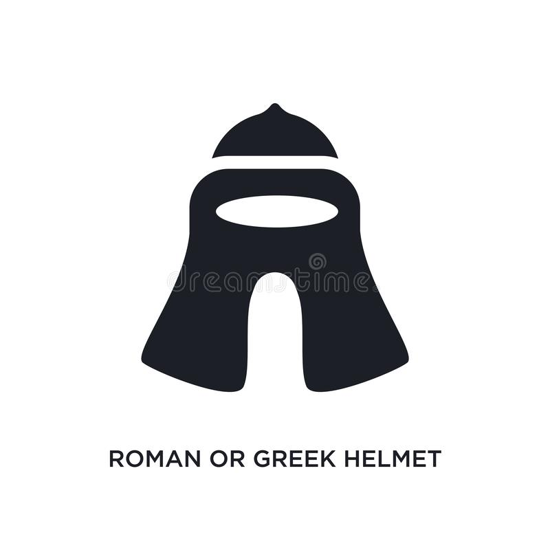 ou grec icône d'isolement par casque romain illustration simple d'élément des icônes de concept de musée logo editable de casque  illustration de vecteur