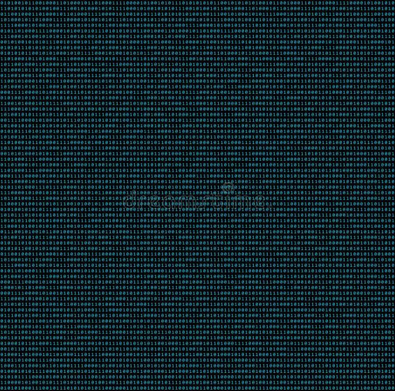 01 ou texture sans couture de modèle de nombre de code binaire sur le calcul illustration libre de droits