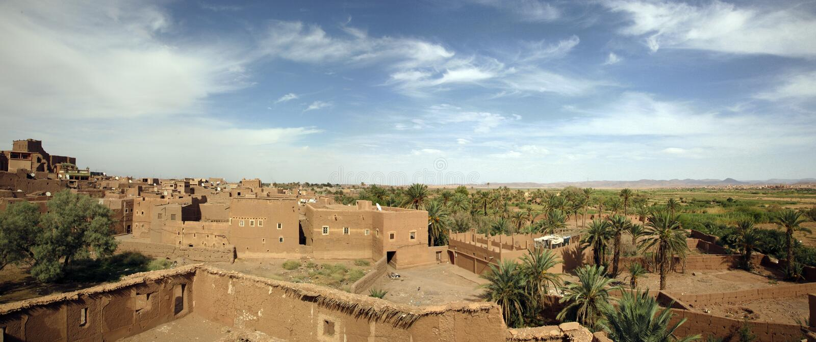 Ouarzazate. Oasis of ouarzazate in Morocco royalty free stock photography