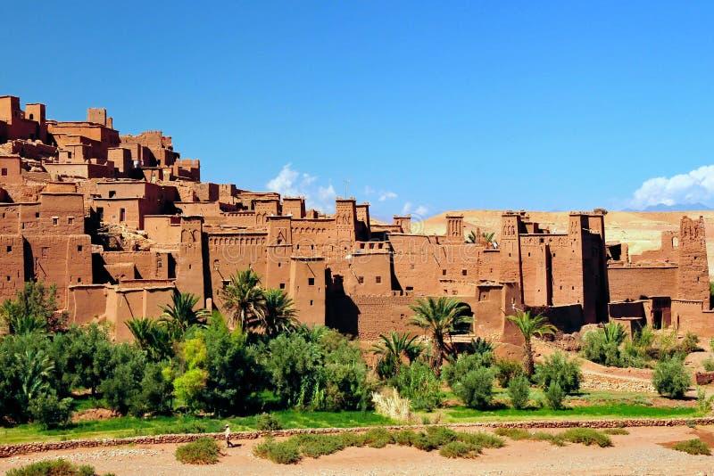 Ouarzazate Ait Benhaddou i Marocko arkivfoto