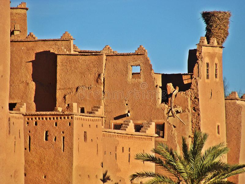 Ouarzazate, Morocco. Ouarzazate is a city south of the Moroccan High Atlas, famous for being the gateway to the Sahara desert. From its enormous citadel of stock photo