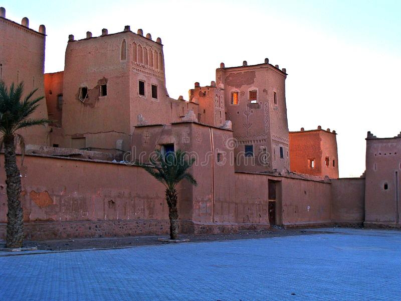 Ouarzazate, Morocco. Ouarzazate is a city south of the Moroccan High Atlas, famous for being the gateway to the Sahara desert. From its enormous citadel of royalty free stock photos