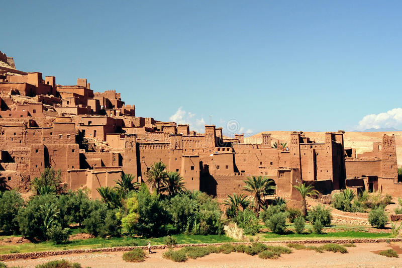 Ouarzazate in Morocco. A famous film set in Morocco near Ouarzazate stock image