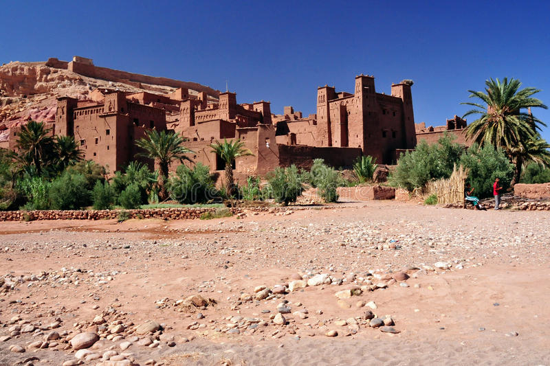 Ouarzazate in Morocco. Film set for some movies stock photography