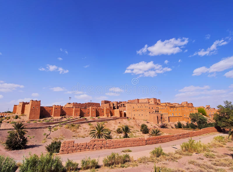 Ouarzazate, Morocco. Kasbah Taourirt - adobe traditional building in eastern Ouarzazate, Morocco, Africa royalty free stock images